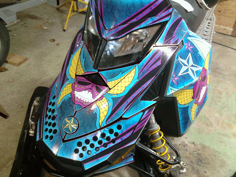 Skull Sled Graphics