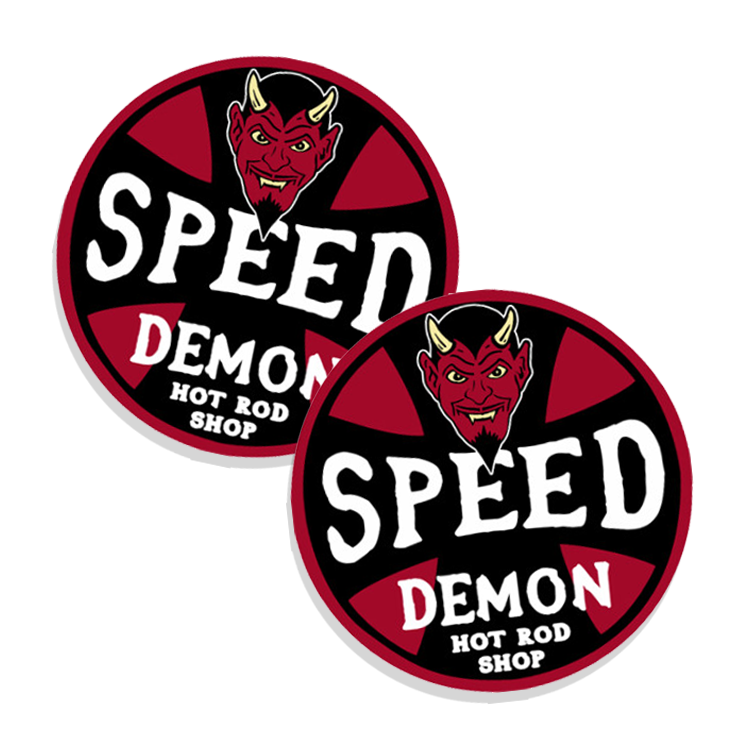 Speed demon hot rod shop stickers