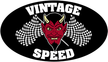 Vintage Speed With Flags Sticker