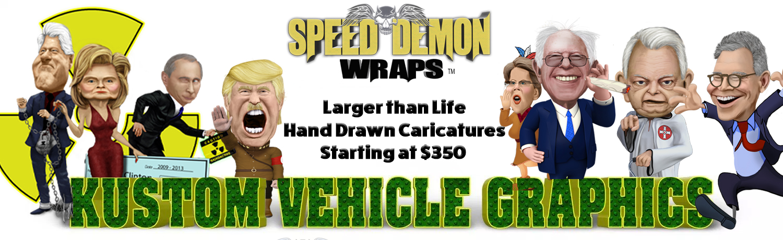 Caricature Vehicle Wraps