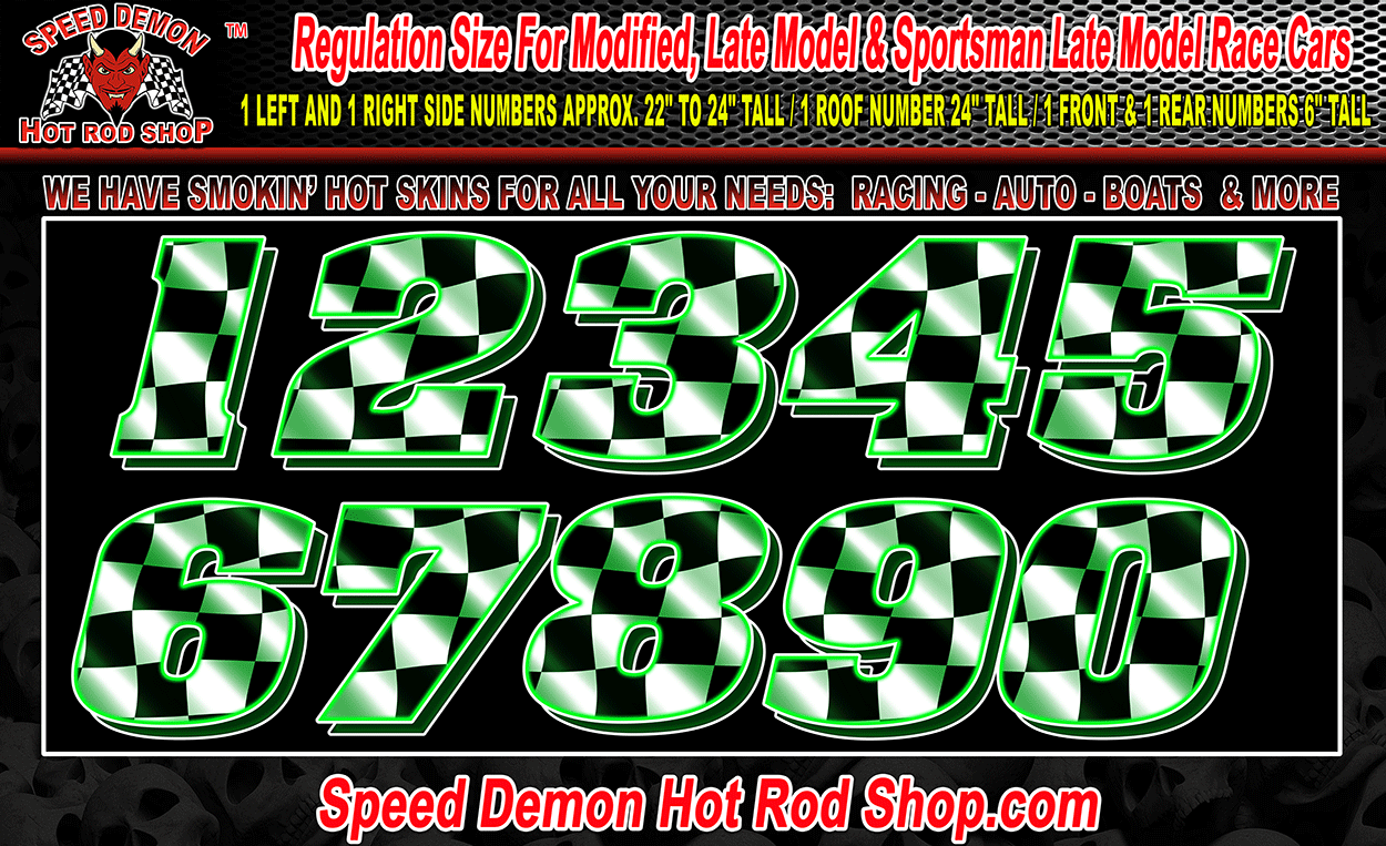 RACE CAR NUMBER KITS Archives - Speed Demon Hot Rod