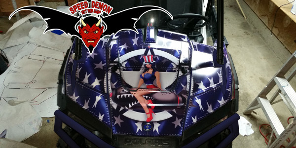 Utv Graphics Amp Wraps Speed Demon Hot Rod Shopspeed Demon