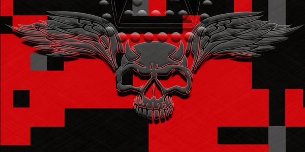 Red and Black Digital Camouflage