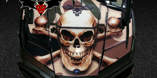 Skull Hood Camo Wrap