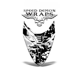 RMK Dragon HOOD GRAPHICS WRAP DECAL Digital White Camo
