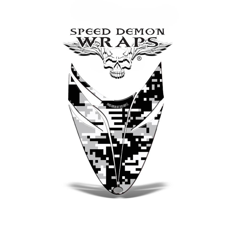 RMK Dragon HOOD GRAPHICS WRAP DECAL Digital White Camo