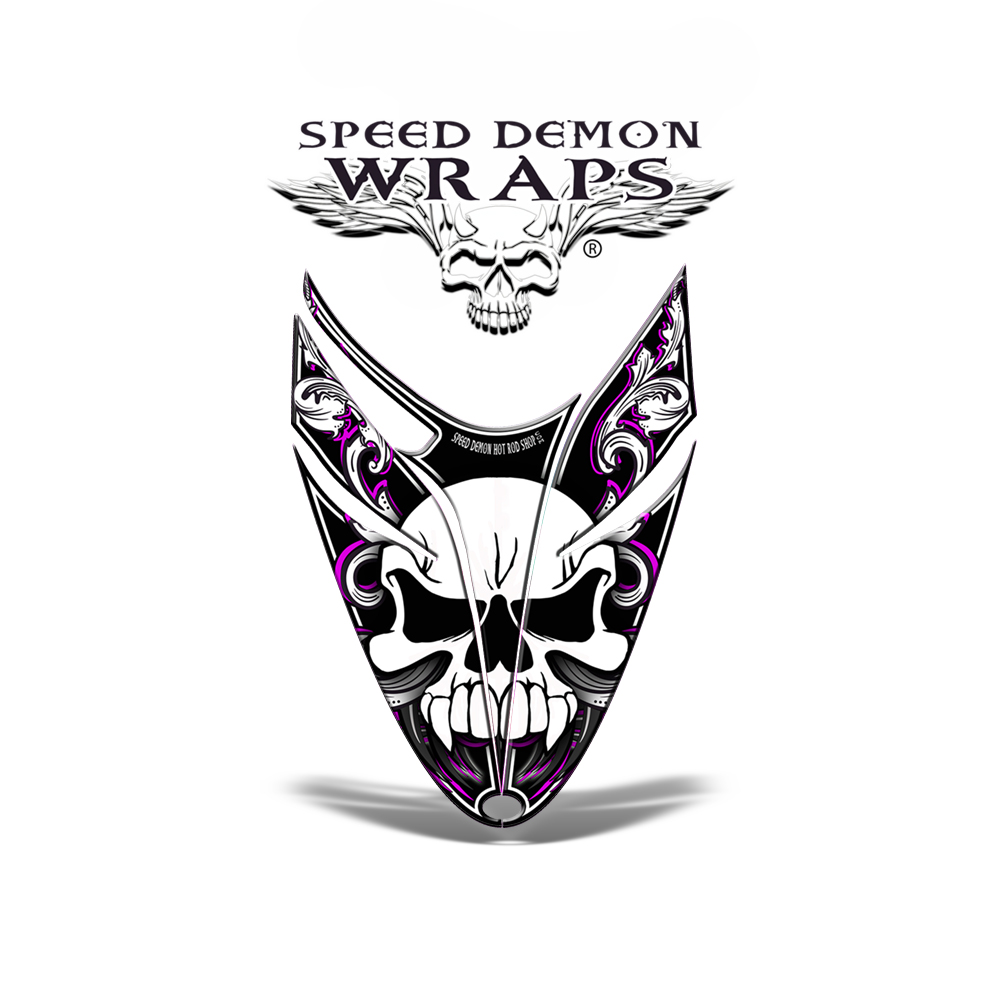 RMK Dragon HOOD GRAPHICS WRAP DECAL Pink Skullen