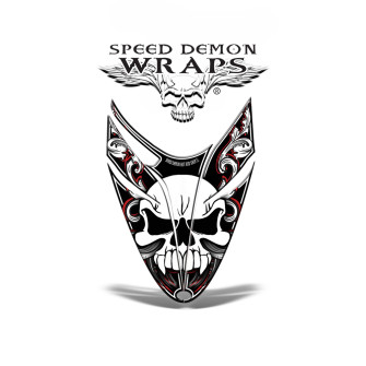 RMK Dragon Snowmobile Sled HOOD GRAPHICS WRAP KIT red Skullen