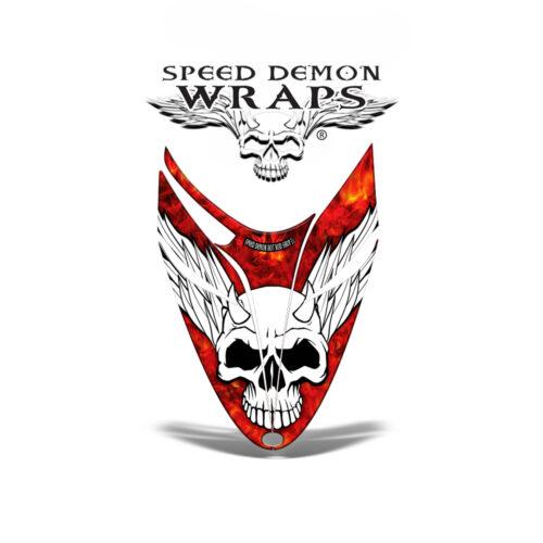 RMK Dragon snowmobile Sled HOOD GRAPHICS WRAP DECAL Red Baron