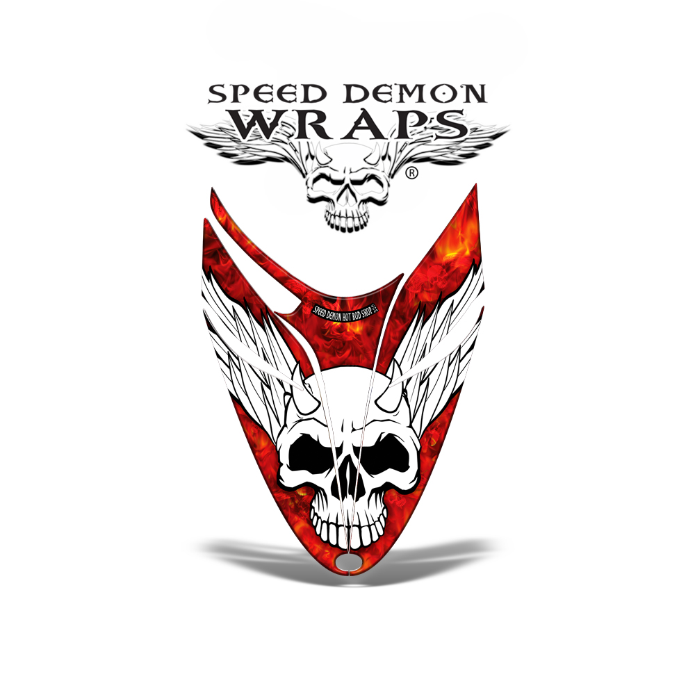 RMK Dragon snowmobile Sled HOOD GRAPHICS WRAP DECAL Red Baron