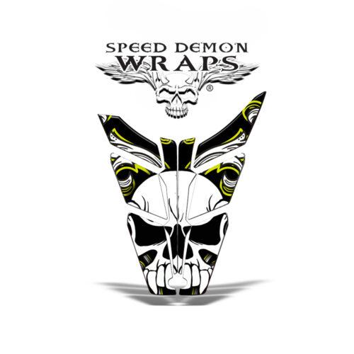 PR0 RMK Rush Vinyl HOOD GRAPHICS WRAP DECAL Yellow Skullen